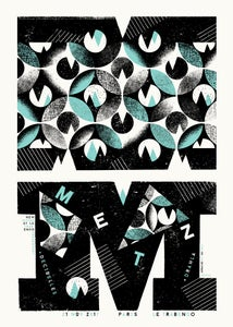 Image of METZ (Paris 2017) screenprinted poster