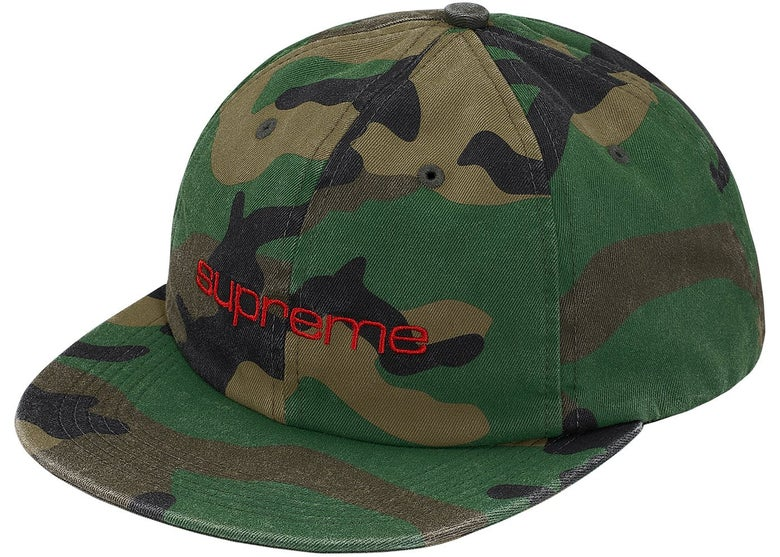 Image of Supreme - Compact Logo 6-Panel (Camo)