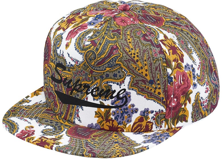 Image of Supreme - Paisley 5-Panel (White)