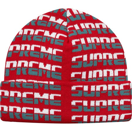 Image of Supreme - Repeat Beanie (Red)