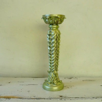 Image of Sea Green Ornate Candle Holder