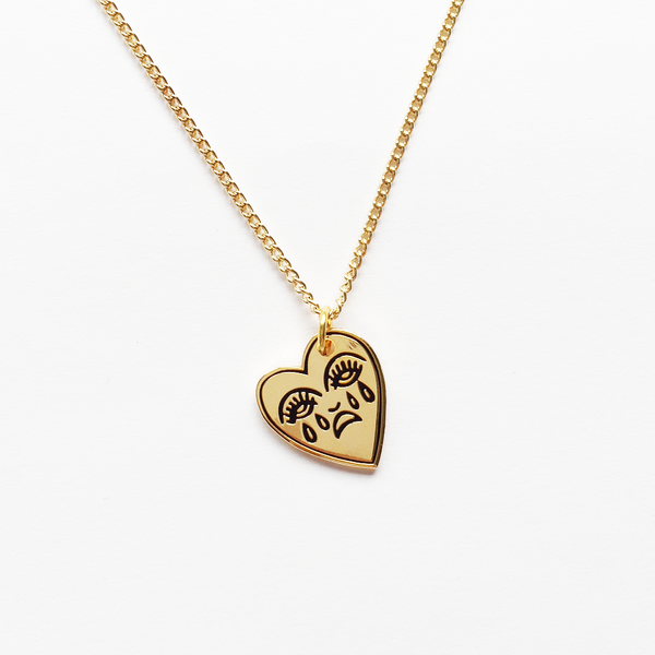 Image of Crying Heart Charm Necklace