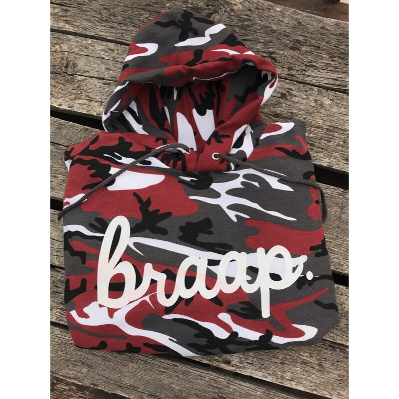 Image of Red Camo Braap Hoodie Pre-Order ships by 12-15