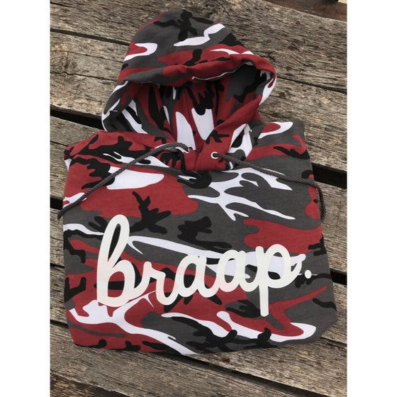 Image of Red Camo Braap Hoodie