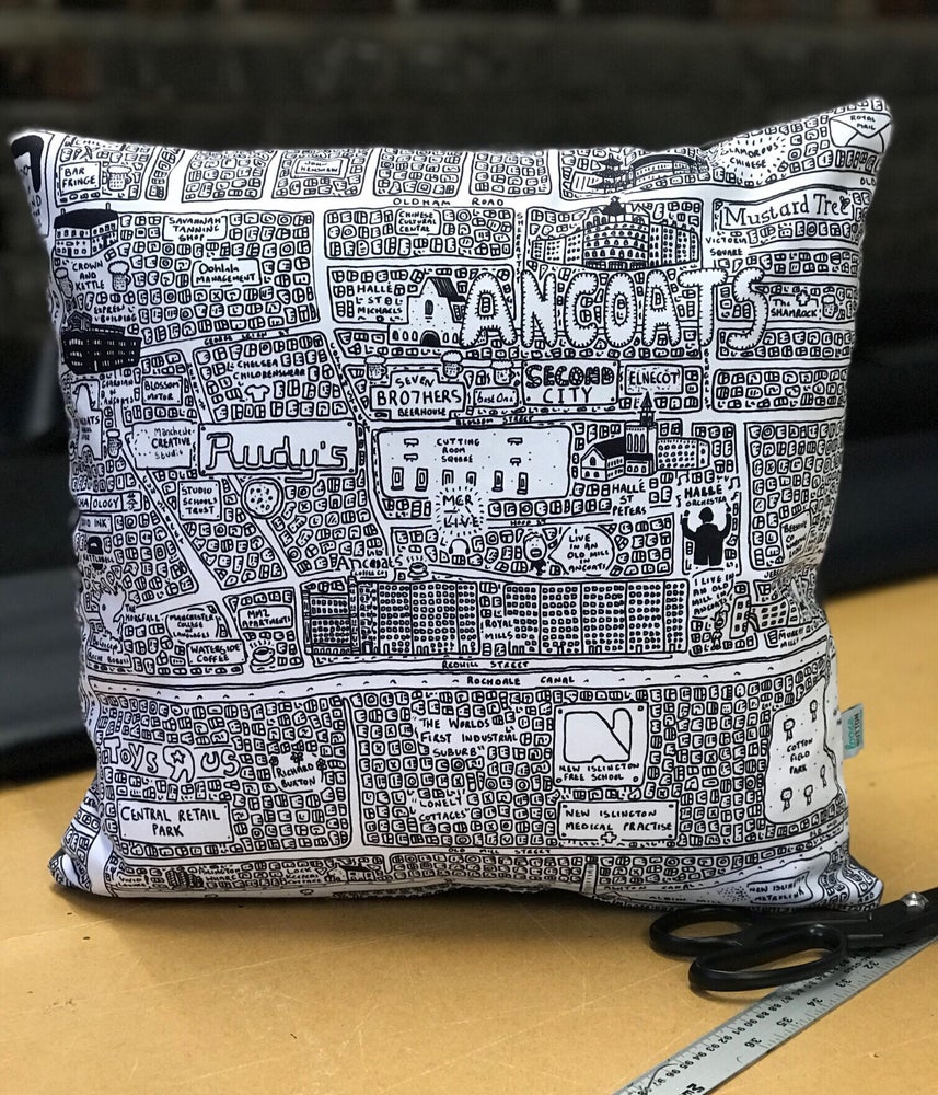 Image of Ancoats Doodle Map Cushion
