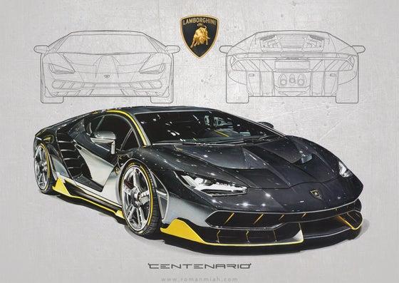 Image of Lamborghini Centenario Poster Print