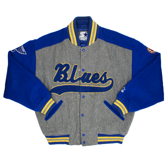 Image of Starter Wool Throwback St Louis Blues Varsity Jacket