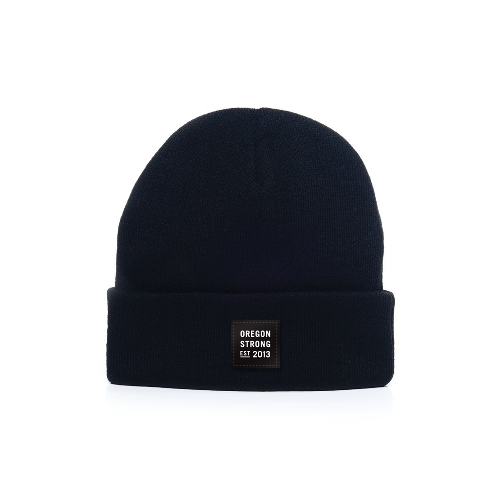 Image of Logo Patch Beanie - Midnight Black