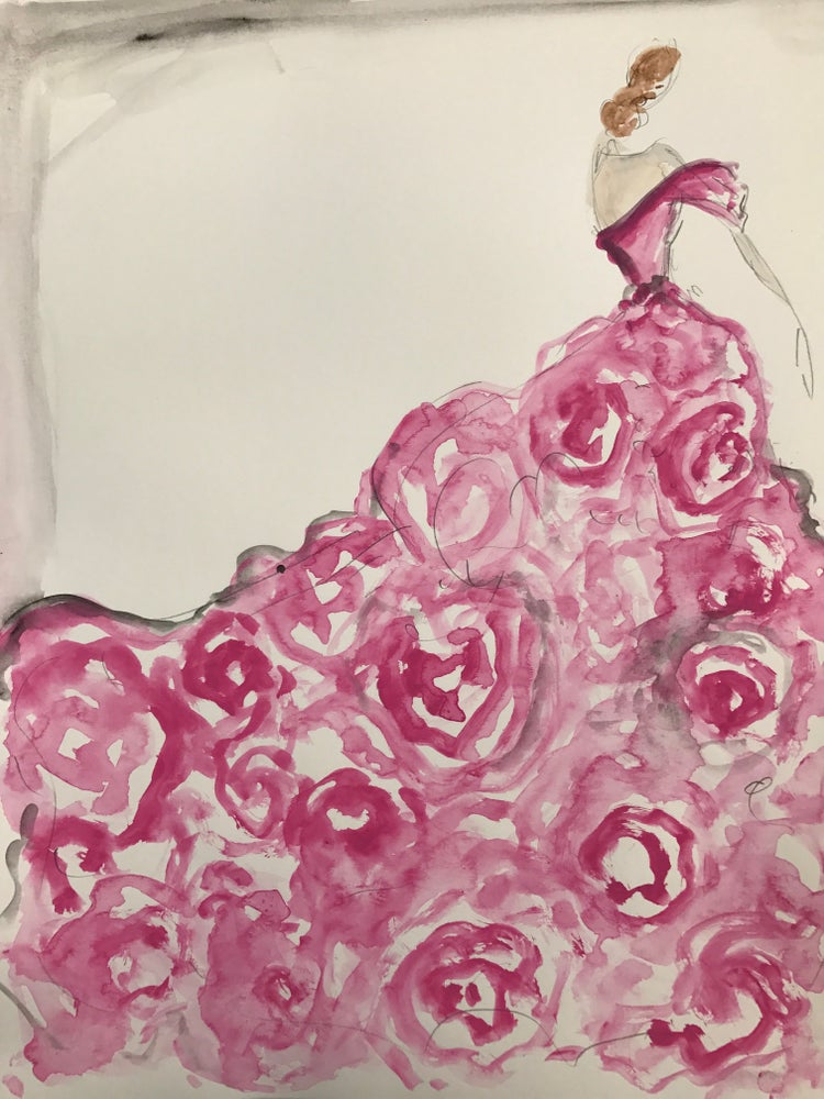 "Image of ""Wild Rose"" Sketch Print"
