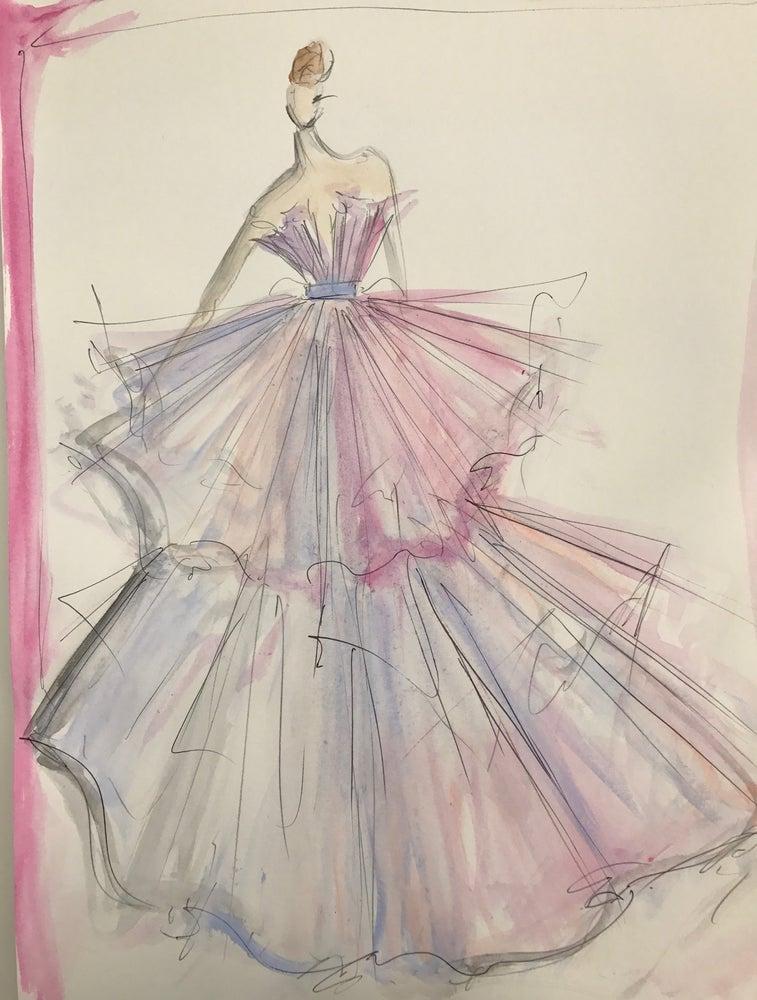 "Image of ""Watercolor Ballerina"" Sketch Print"