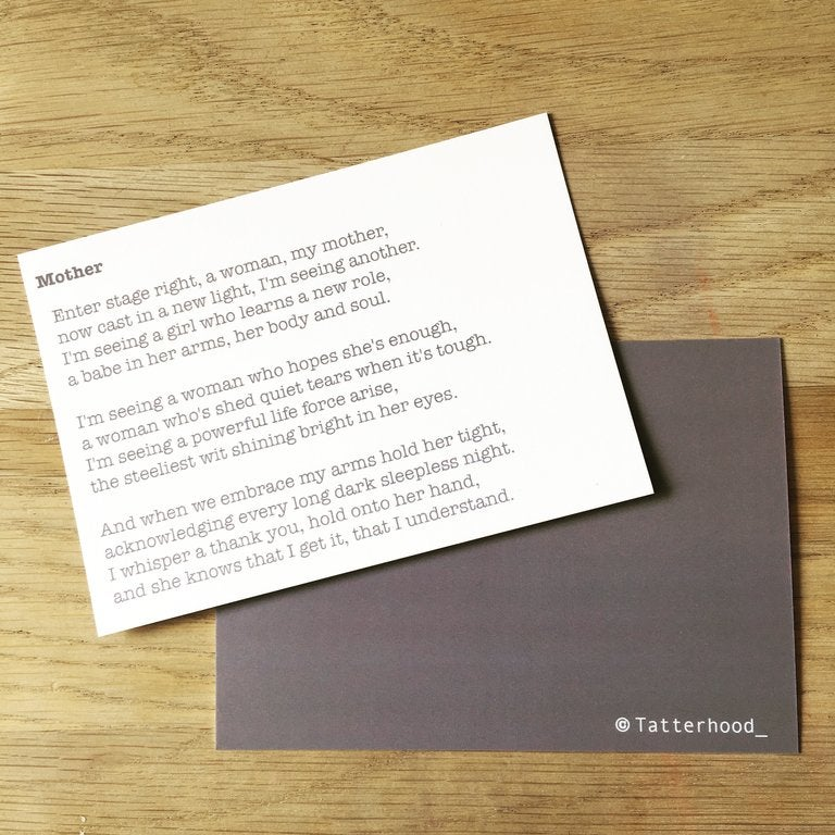 Image of Mother - Poem Postcard (Small - A6 size)