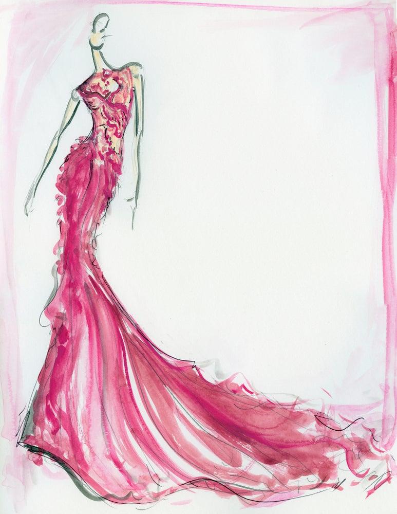 "Image of ""Lady Bird"" Sketch Print"