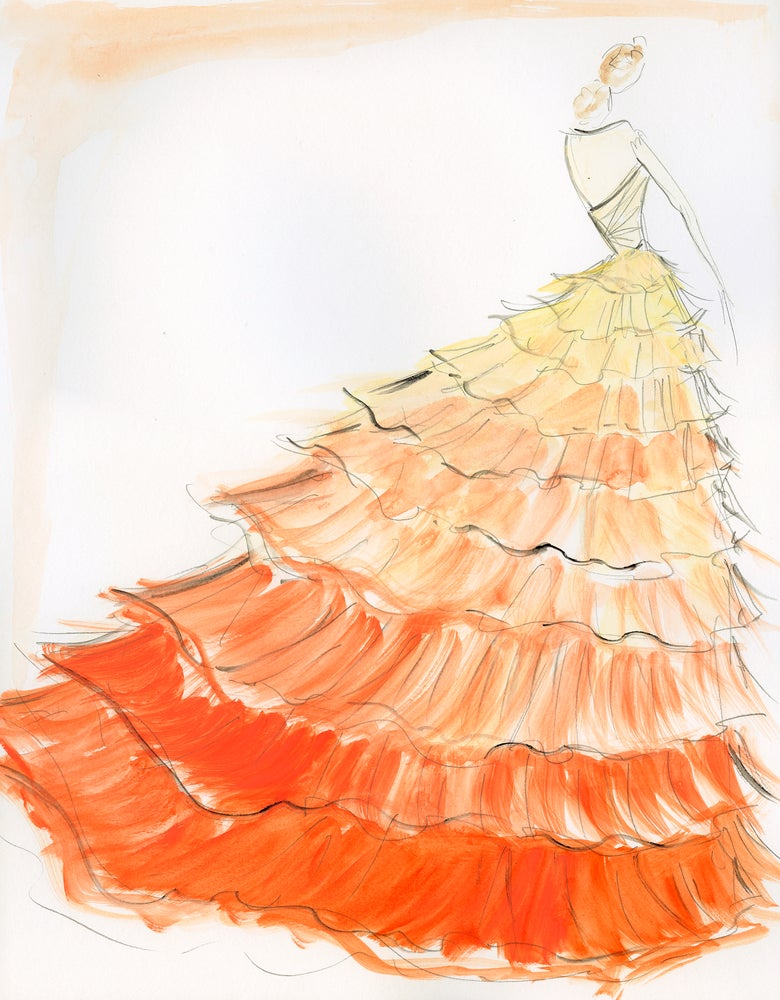 "Image of ""Sunset Ombre"" Sketch Print"