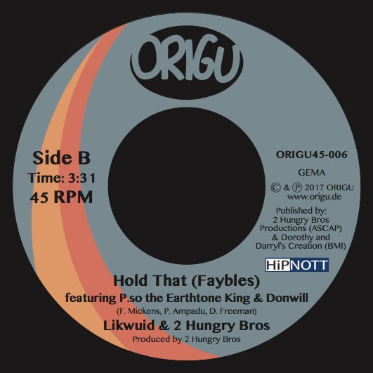 "Image of OUT NOW 7"" Likwuid & 2 Hungry Bros feat. DJ Evil Dee - IllFayted B/W Hold That (ORIGU45-006)"