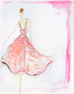 """Image of """"Feather Dress"""" Sketch Print"""
