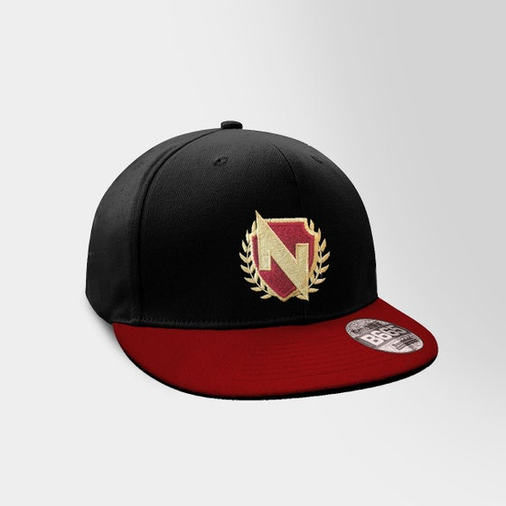 Image of Crest Snapback Red on Red
