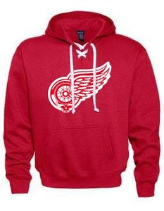 Image of Red Grateful Wings Hockey Hoodie