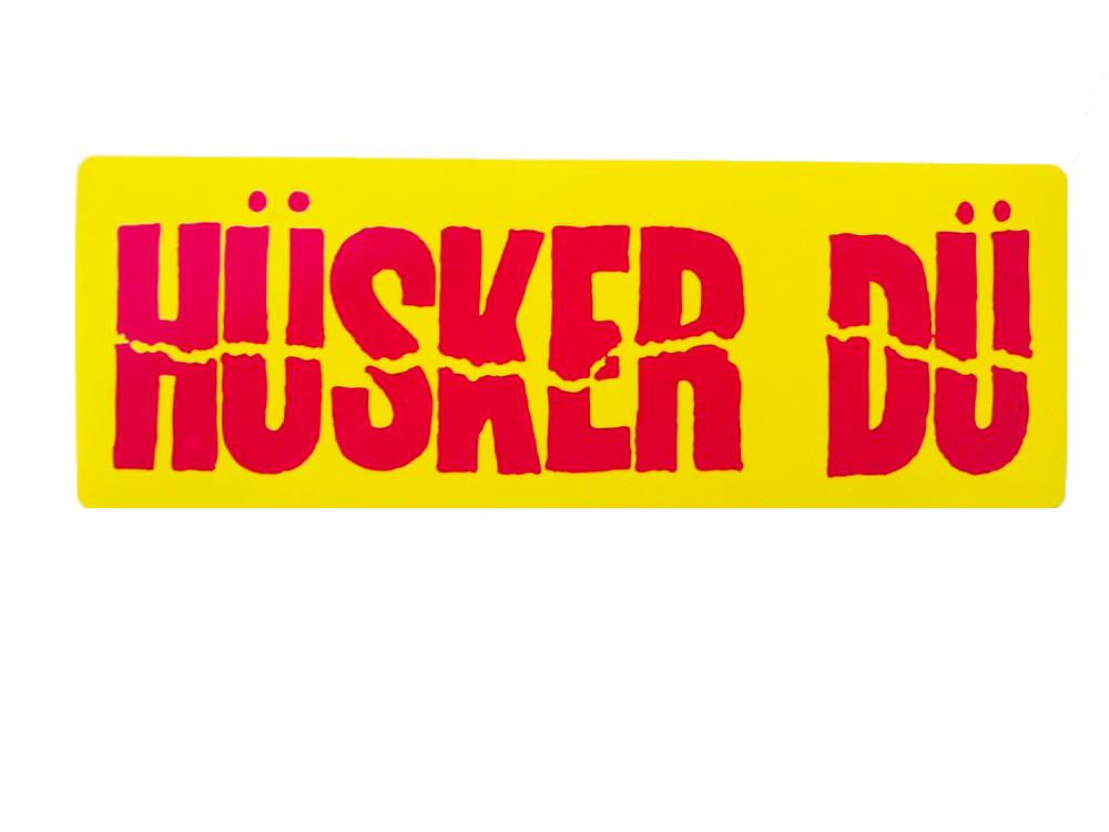 Image of HÜSKER DÜ CITRON GREEN AND HOT PINK STICKER