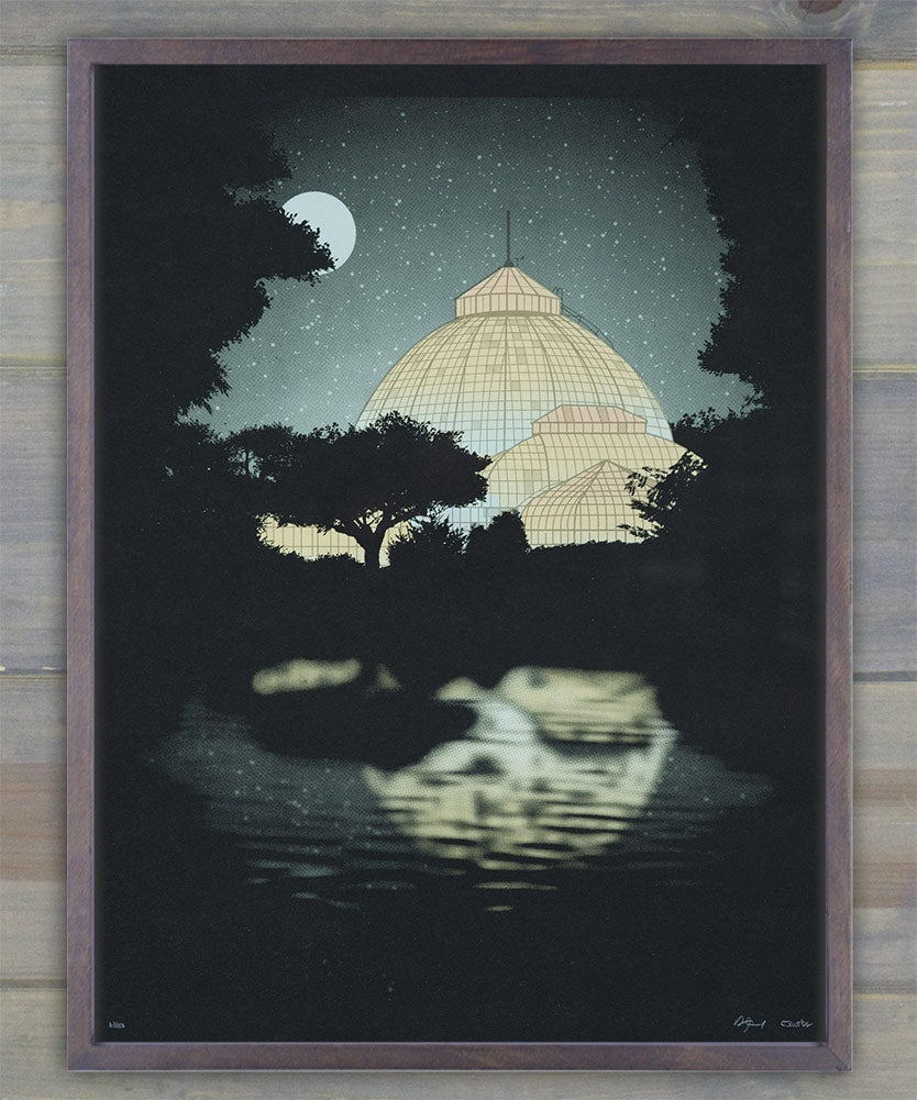 Image of Belle Isle Conservatory Screen Print