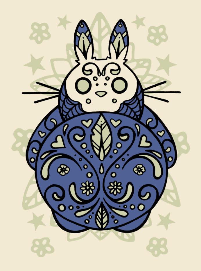 Image of Dia De Los Muertos Totoro