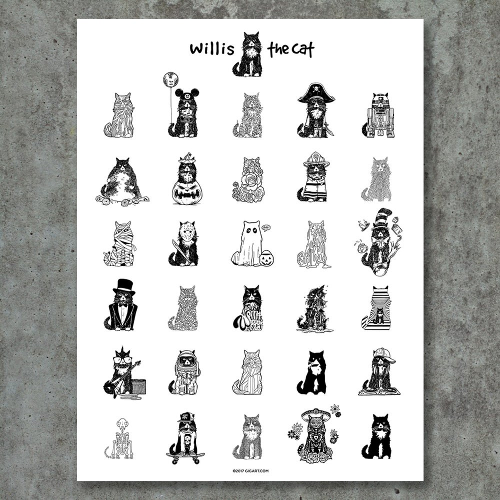 Image of Willis The Cat Poster