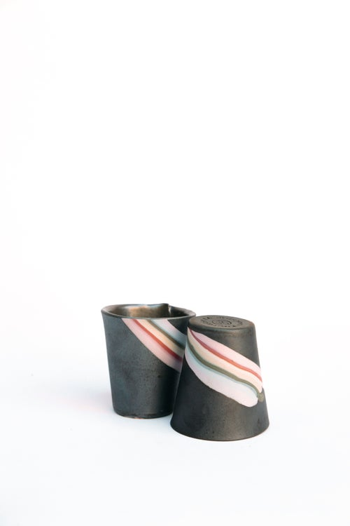 Image of Mini Party Tumbler - Rainbow on graphite