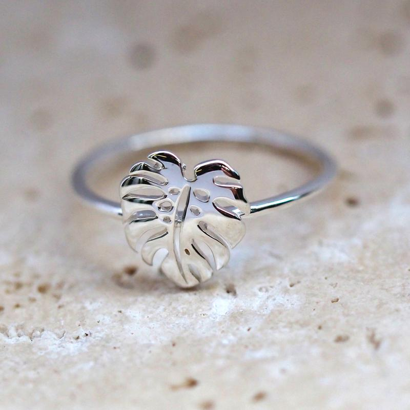 Image of Sterling Silver Monstera Ring