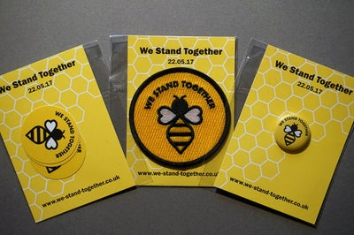 Image of Manchester #WeStandTogether Bee Patch, Stickers and Badge Bundle