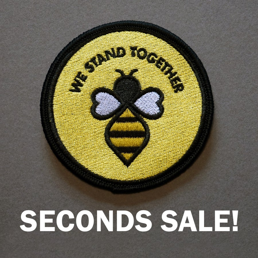 Image of Seconds Sale - Manchester #WeStandTogether Bee Iron-On Patch