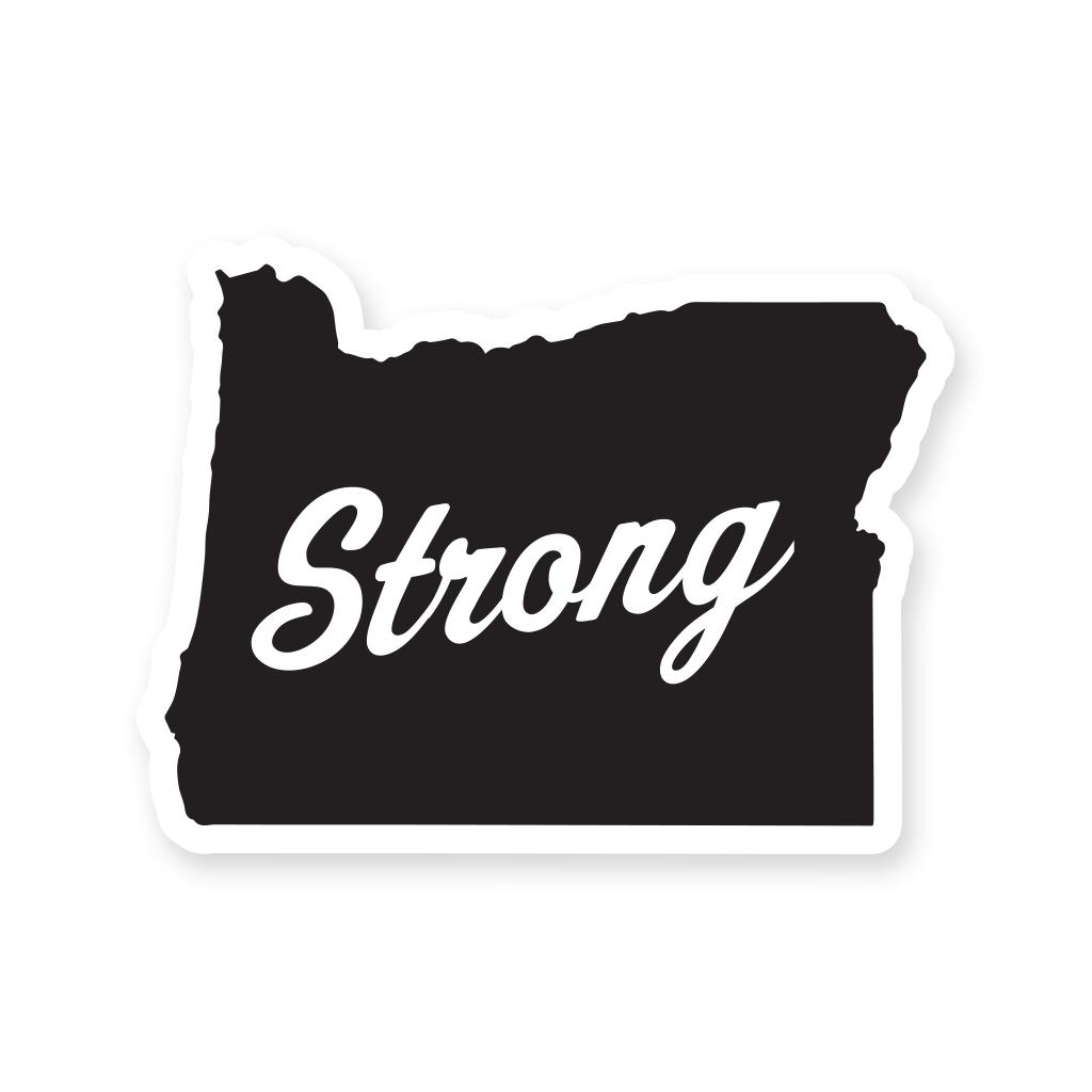 Image of Oregon Strong Logo Sticker