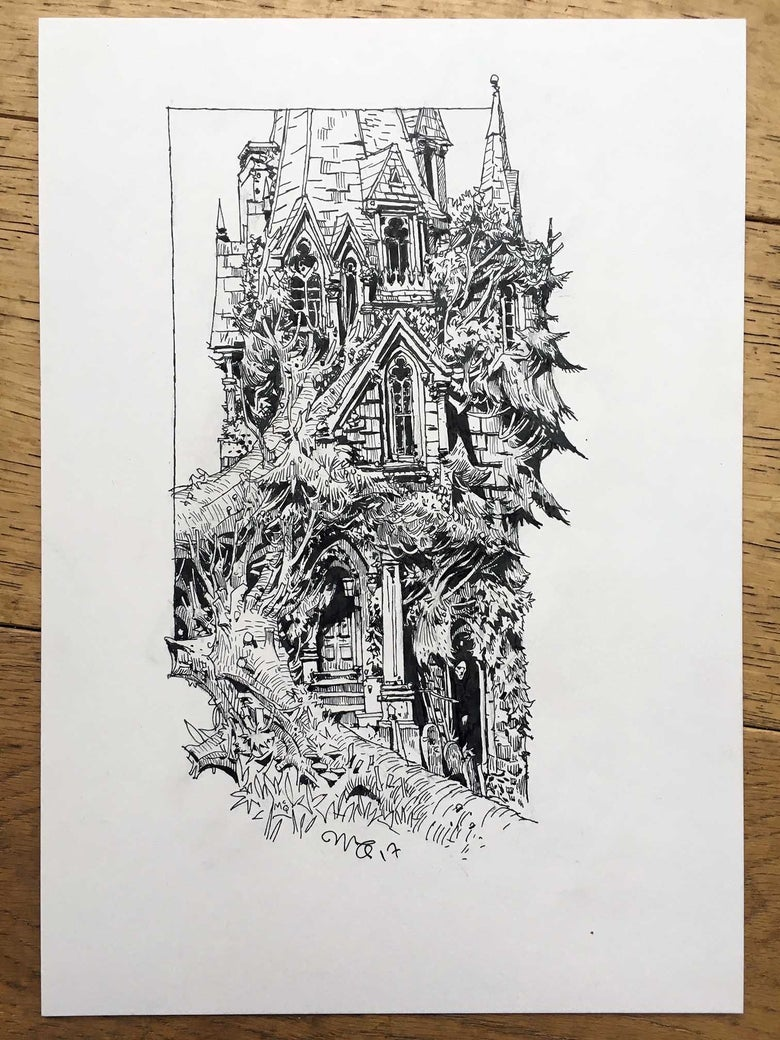 Image of Haunted House Series no. 1 (Inktober 2017)
