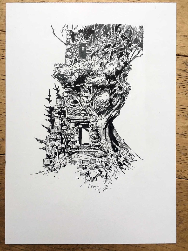 Image of Haunted House Series no. 4 (Inktober 2017)