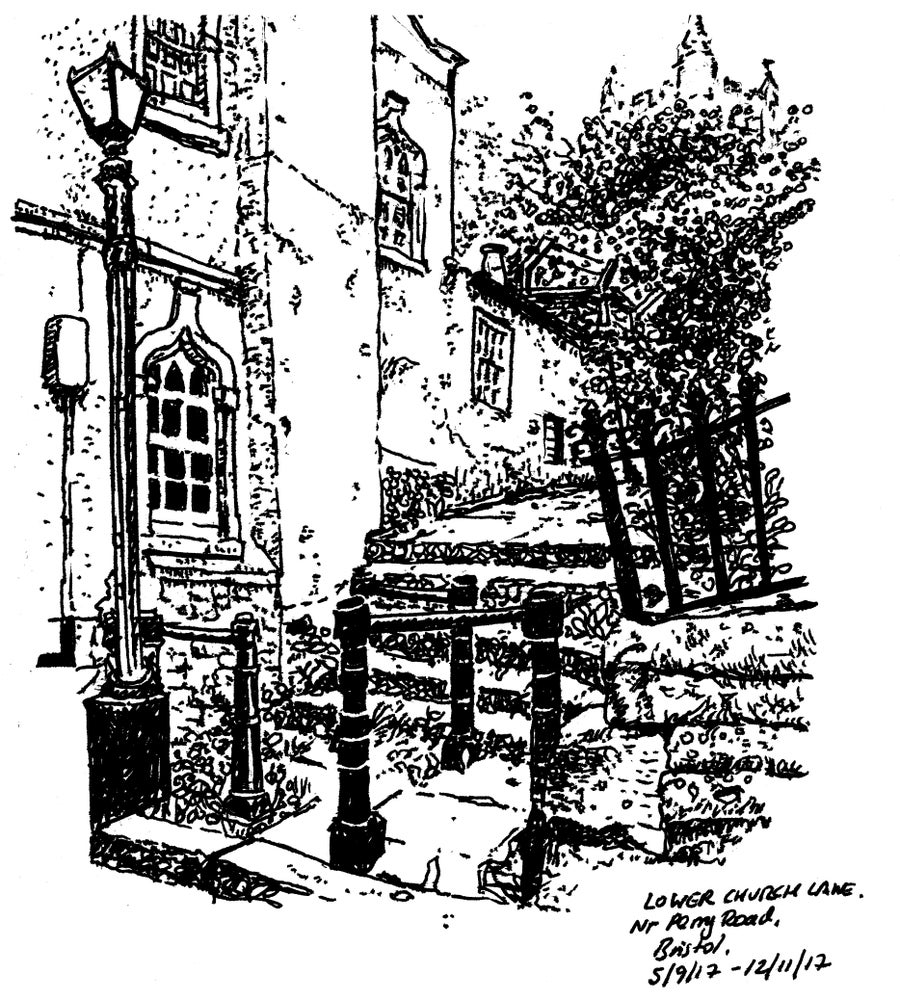 "Image of ""Steps near Lower Church Lane""- Signed Digital Print"