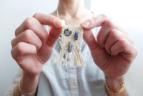 Image of Sautoir tissé - woven necklace