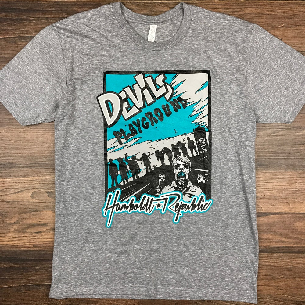 "Image of ""Devil's Playground"" Men's Tri-Blend Tee"