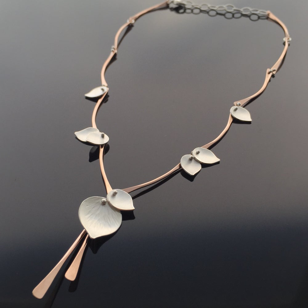 Image of Aspen Rain Necklace, Rose or Yellow Gold Filled & Sterling