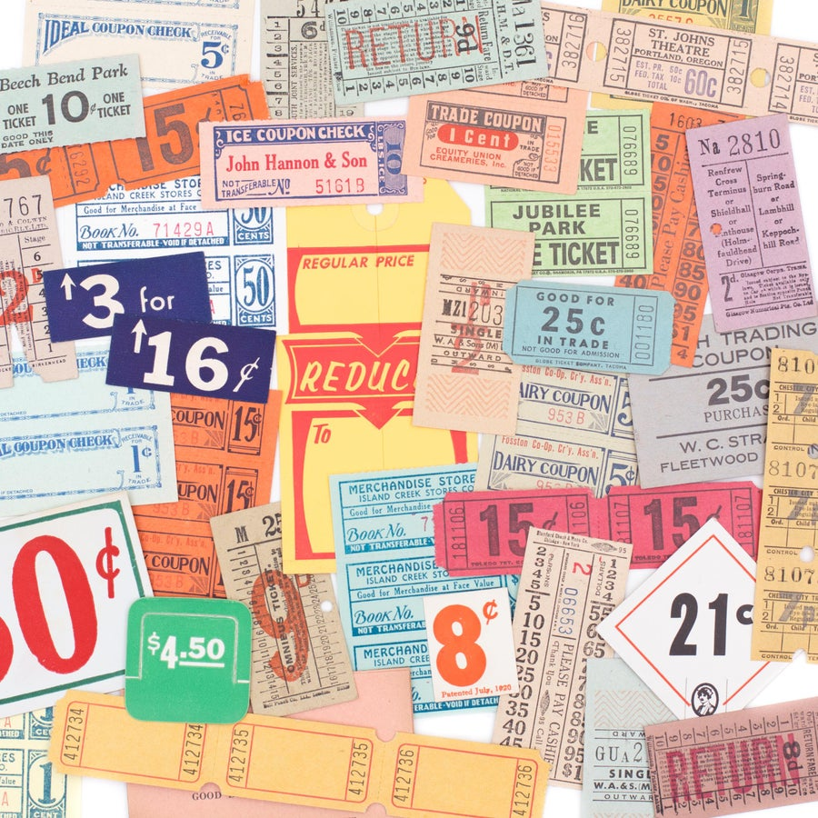 Image of Tags & Tickets Grab Bag