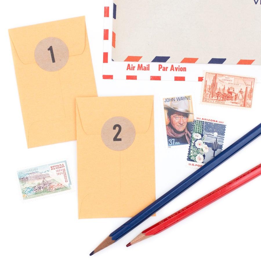 Image of Vintage Postage Stamp Advent Calendar