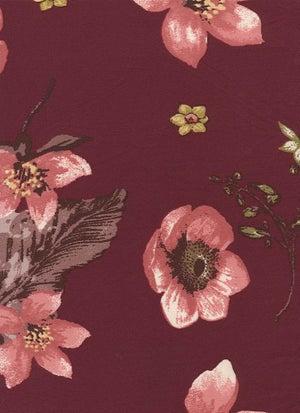 Image of Lilah Floral Print - Wine