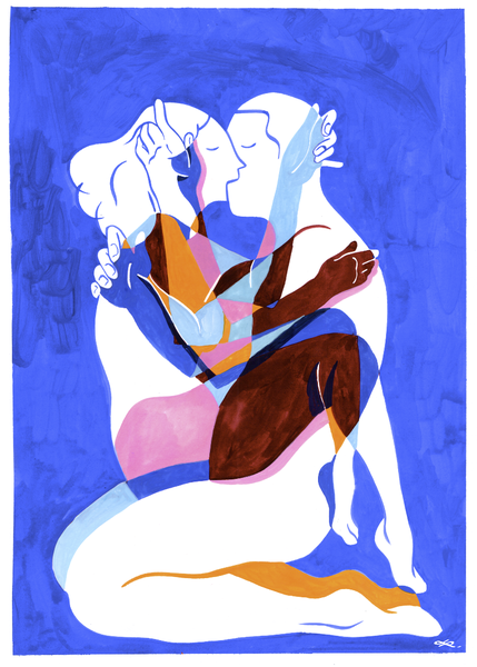 Image of love is blue
