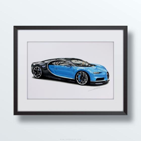 Image of Bugatti Chiron Original Artwork