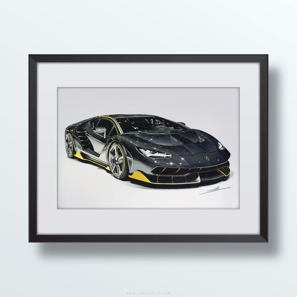 Image of Lamborghini Centenario Original Artwork