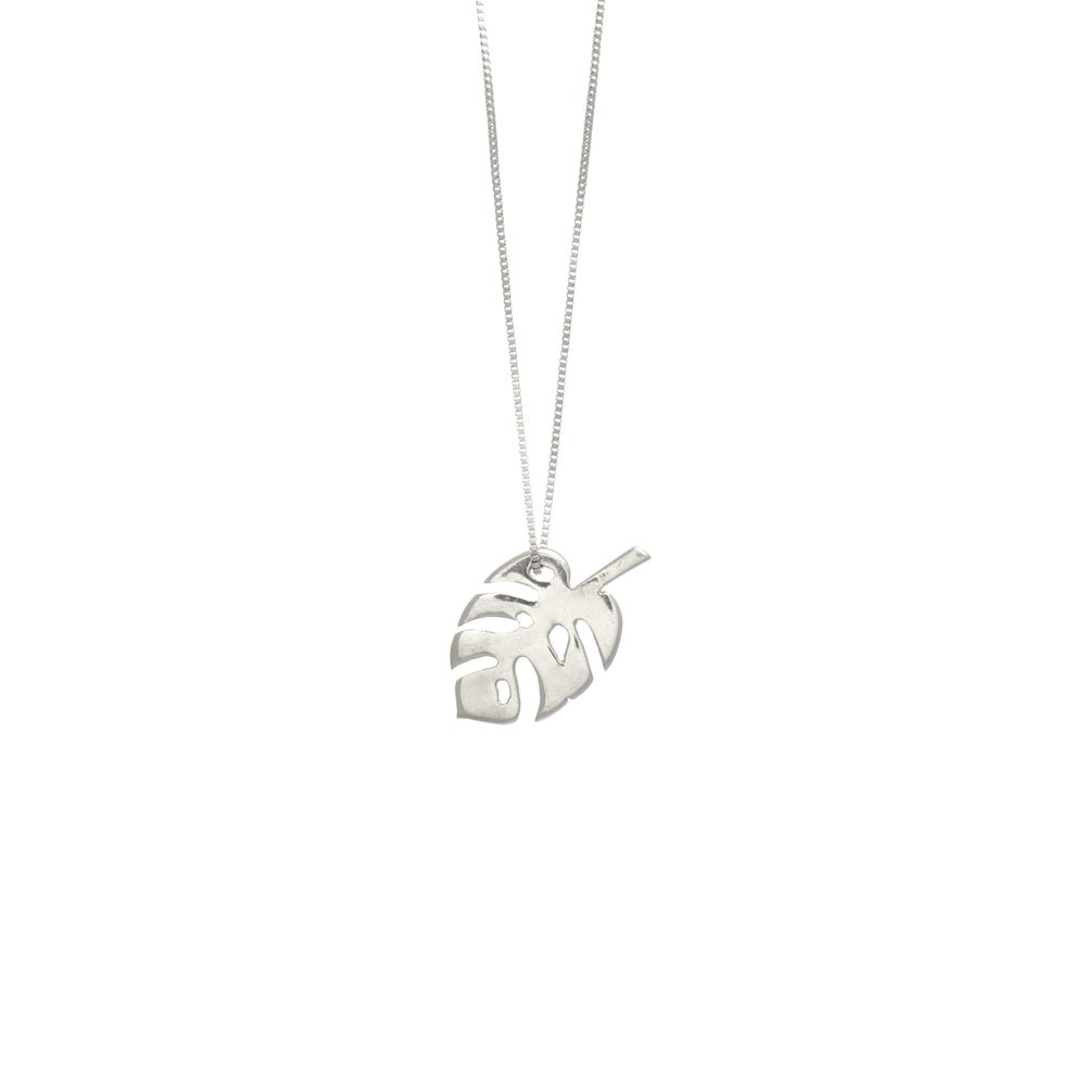 Image of Monstera Silver Necklace