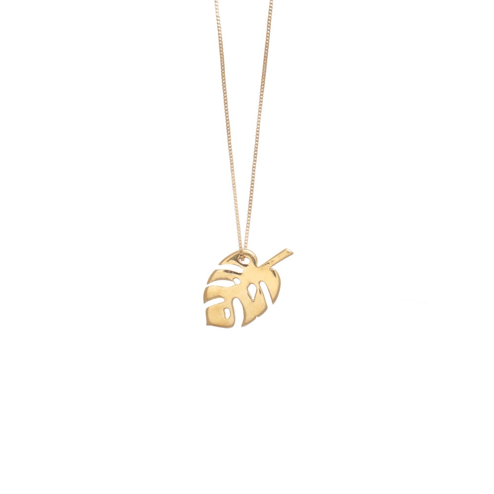 Image of Monstera Gold Necklace