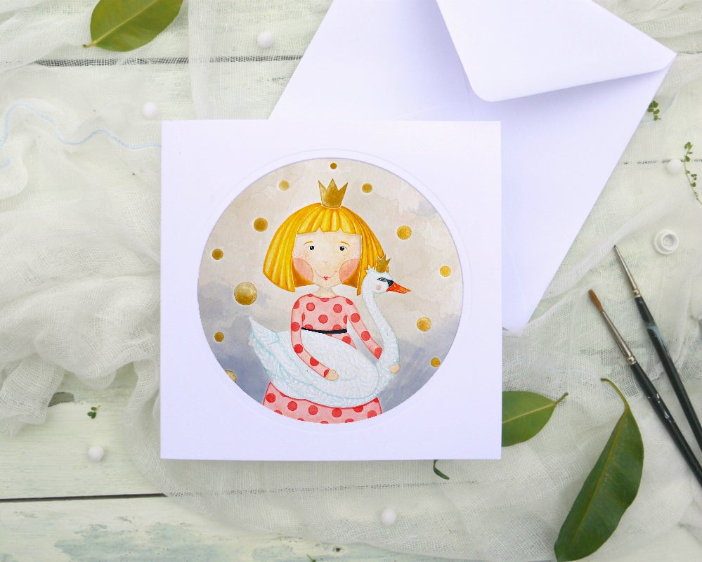 Image of Little princess - illustrated greeting card