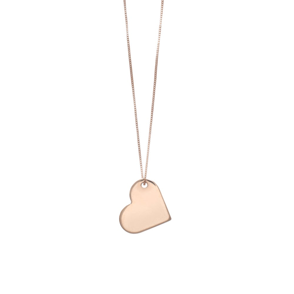 Image of My Rose Gold Big LOVE Necklace