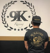 Image of 9K Racing Crewneck T-Shirt Black