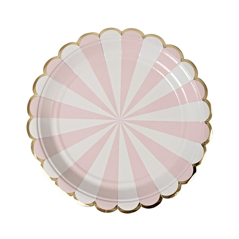 Image of Striped Pink Plate - small