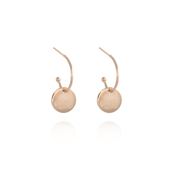 Image of Rose Gold Coin Gipsy Earrings