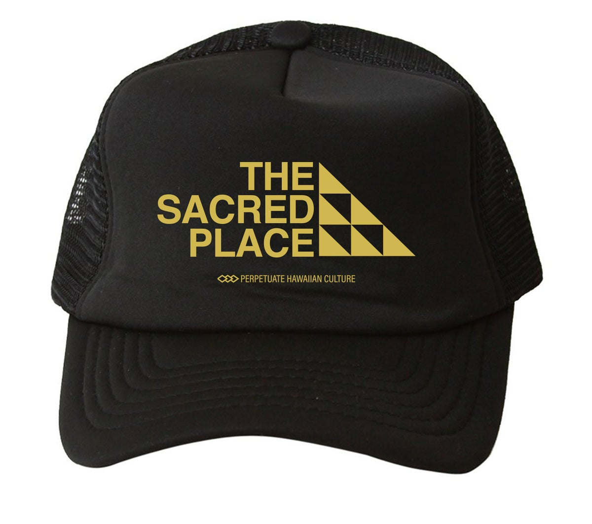Image of The Sacred Place Trucker Hat (Blk/Gold)